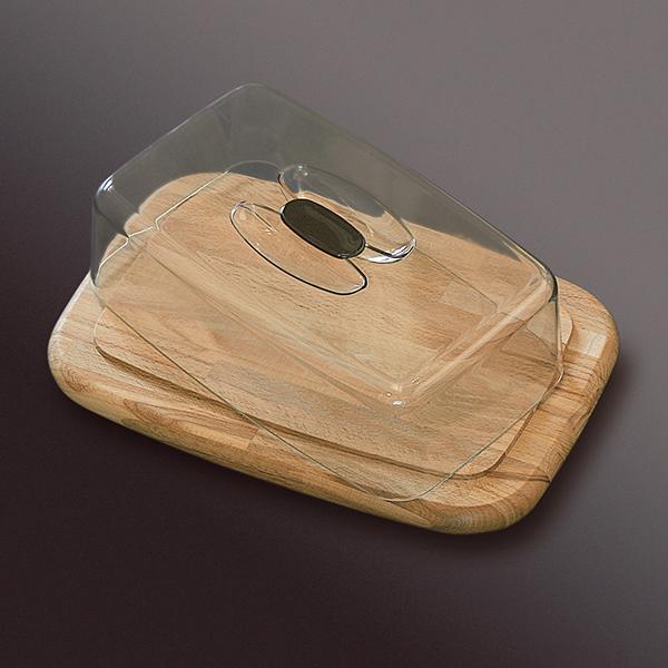 Porta formaggio in legno rettangolare spotpromo - Porta formaggio ikea ...